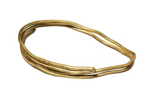 Boucle en fil d'or double