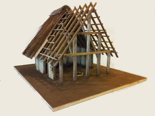 Maquette d'habitation mérovingienne