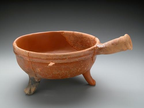 Caquelon tripode en céramique à glaçure